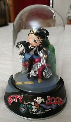 """1997 LIMITED EDITION BETTY BOOP BORN TO BE BOOP FIGURINE w/ DOME GLASS ~ 4.5"""""""