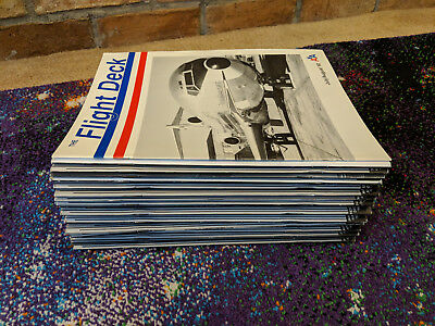 RARE Lot of 1990's American Airlines The Flight Deck Collectible Magazines