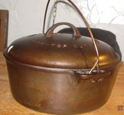 Griswold No 9 Tite-Top Cast Iron Dutch Oven Pot & Lid 2552