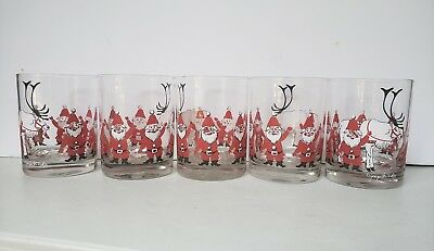George BRIARD SANTA Drinking Glasses 1960's MCM