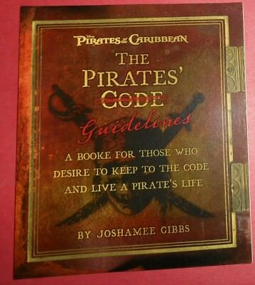 Disney - Pirates Of The Caribbean Book - The Pirates Code - New