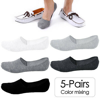 No Show Liner Socks 6-9 US Nonslip Cut Loafer 5 Size Low Invisible Pairs Mens