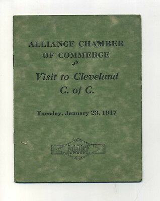 Antique Booklet WWI Era Alliance Ohio Chamber of Commerce Trip Cleveland
