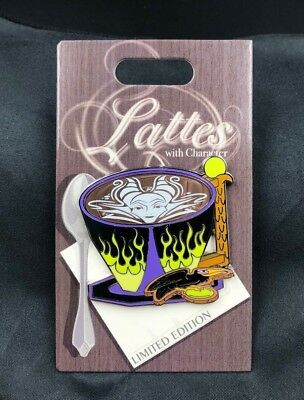 Disney Pin Lattes with Character Series Maleficent  July 2018 Le 3000 New Wdw