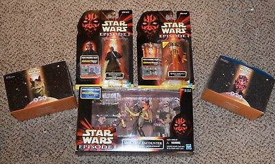 STAR WARS Episode 1 LOT OF 5 Action Figures MOS ESPA set, Queen & Darth Maul NIB