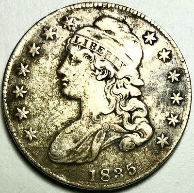 Nice Details 1835-P Capped Bust Half Dollar - Early Half - 50¢, VF+