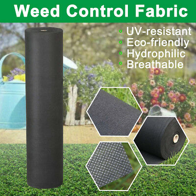 Weed Control Fabric Ground Sheet Membrane Cover Garden Mulch Landscape Various S