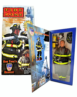 Fire Zone FDNY Firefighter Action Figure New York City Bravest Real Heroes NIB