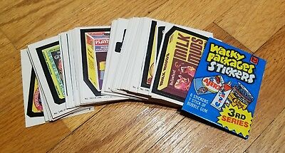 Vintage Wacky Packages 3rd Series 133-198 Set with Wrapper - Fantastic Condition