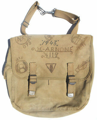 Orig Named Philadelphia Gi's 90Th & 79Th Div Us Ww2  Musette Bag Ken-Wel 1943