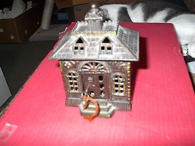 Vintage Cast Iron State Bank Still Coin Bank ,rare