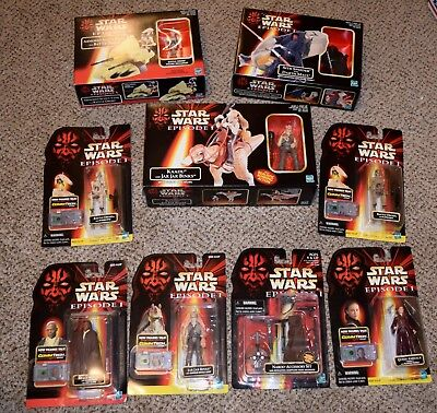 STAR WARS Episode 1 Mixed Lot: 3 playsets + 6 Action Figures 1998 Hasbro NIB!