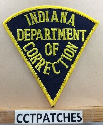 Indiana Department Of Correction Black (Police) Shoulder Patch In