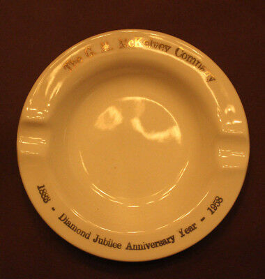 The G. M. McKelvey Co 1883-1958  Diamond Jubilee Ashtray Youngstown, Oh