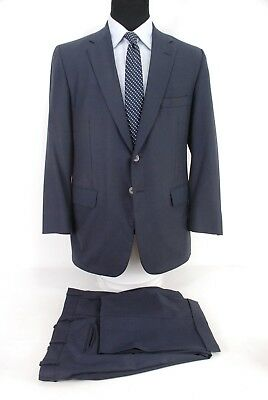 Tom James Royal Classic Holland Sherry Wool 2Btn Suit Navy Blue Bespoke 41R