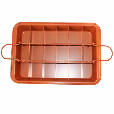 Copper Non-stick Brooklyn Brownie Baking Pan Built-In Slicer Baking Pan 31x20cm