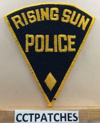 Rising Sun, Indiana Police Felt Shoulder Patch In
