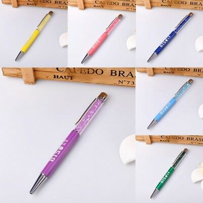 Kpop BTS Bangtan Boys Ballpoint Crystal Diamond Ball Pen Student Stationery Gift