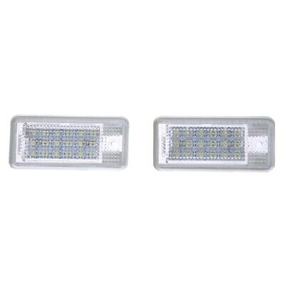 SODIAL (R) 2 Stueck 18 SMD LED Kennzeichenbeleuchtung Lampe fuer Audi A3 A4 Y4V1