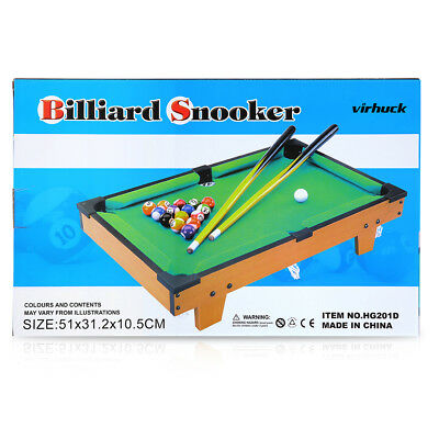MINI POOL TABLE Game Table Top With Accessories Board Games - Pool table chalk board