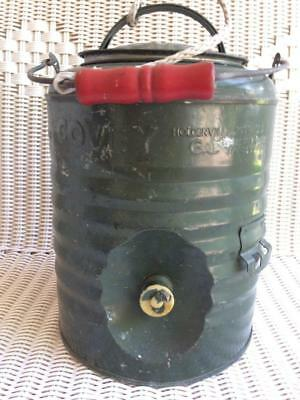 """Vintage """"8 1966"""" Covey Heavy Duty Stainless Steel Gallon Cooler / Picnic Jug"""