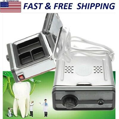 220V 3-Well Portable Dental Analog Wax Heating Dipping Pot Lab Heater Equipment
