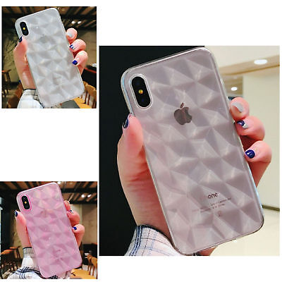 Sprint Soft Silicone Case Bling Diamond Pattern Protector Cover For iPhone 6/6S