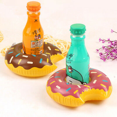 Party Gifts Inflatable Coasters Float Cup Holder Pink Donuts For Swimming Pool
