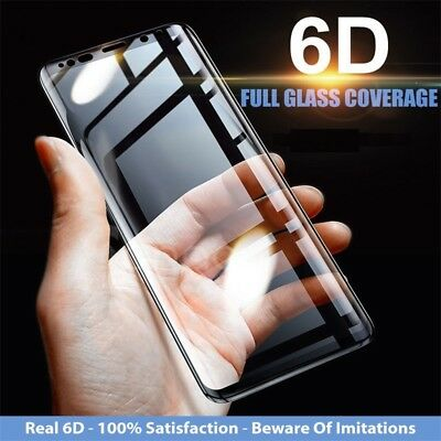 Samsung Galaxy S8 S9 Plus Note 8 6D Screen Protector Dirt Proof Tempered Glass