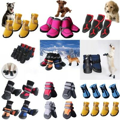 4Pcs Pet Waterproof Non-slip Shoes Winter Dog Cat Snow Boots Warm Puppy Booties