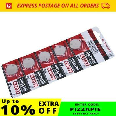 Maxell CR 2032 3V Lithium Batteries | 5 Pack | CR2032 | 5x Coin Cell