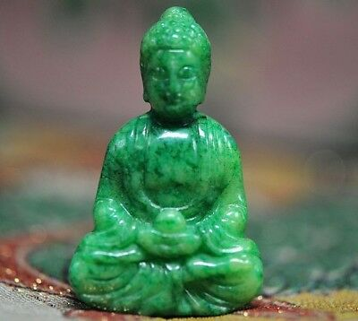 Excellent Chinese old jade hand-carved * Bodhisattva* pendant  K20
