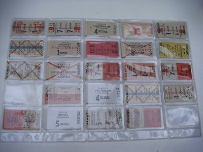 Vintage Victorian Tram Tickets Collection 23 Tickets