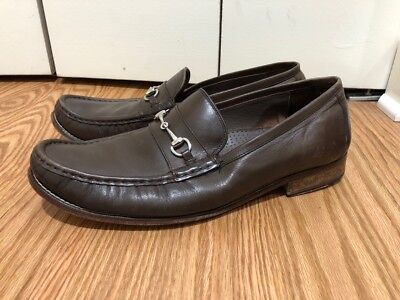 99fe7d318ff COLE HAAN Grand OS Mens Brown Leather Horse Bit Pinch Toe Size 13 W Loafers  Slip