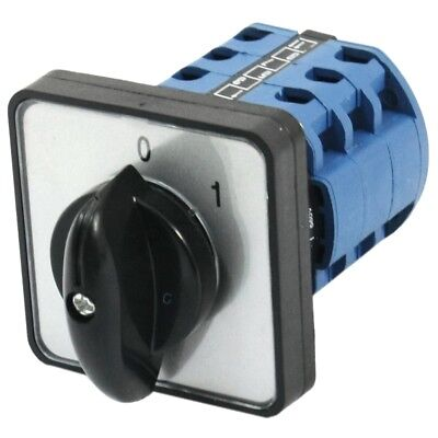 Square Panel Mounting 2-Position 3-Phase Rotary Changeover Switch CA10 Y8M3 U1X1