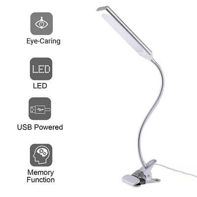 48 LED Flexible USB Clip-On Desk Table Reading Desk Lamp Dimmable LED Light