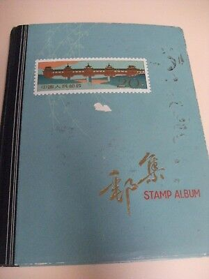 Old Stamp Album - filled with stamps from Australia & other countries