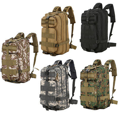 30L 3P Molle Military Assault Shoulders Pack Outdoor Trekking Hiking Backpack