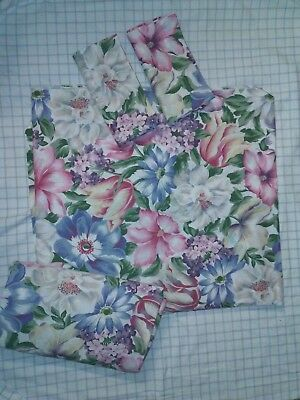 Vintage  Bold  Floral Queen size Fitted Flat 2 cases sheet set