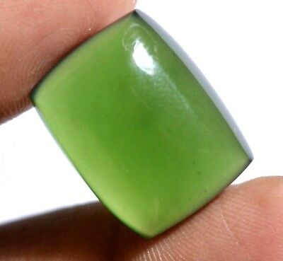 19.05 Ct Natural Green Serpentine GGL Certified Untreated Cabochon Loose Gem