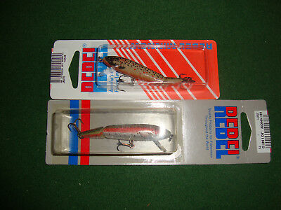 Rebel Minnow 2.5 Inch Jointed  2 X  Lures Nib