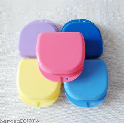 5Color Dental Orthodontic Retainer Denture Storage Case Box Mouthguard Container