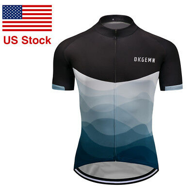 610e0976d New Mens Bicycle Cycling Jersey Riding Tops Short Sleeve Shirts 3 Pockets  Casual