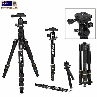 Professional Travel Tripod Aluminum Panhead for Canon Nikon Camera Zomei Q111 AU