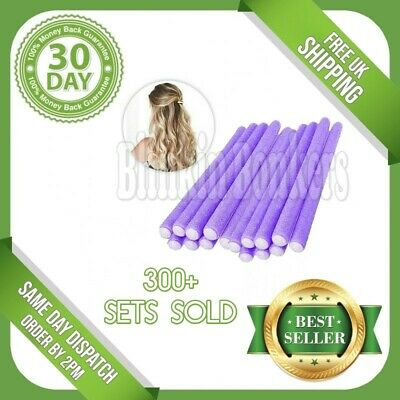 16 Bendy Hairdressing Foam Rollers Curly Hair Styling Waves Twist Curlers Salon