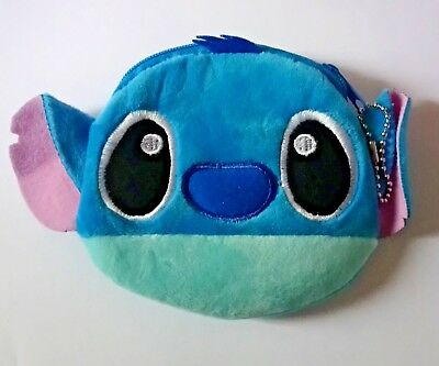 Disney Stitch Zip Purse Plush