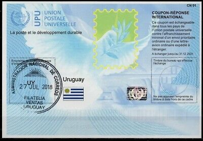 URUGUAY Is41 20180215AA International Reply Coupon Reponse IRC IAS Antwortschein