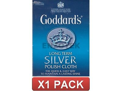 Goddards Long Term Silver Polish Cloth All Cotton Maintains Lasting Shine