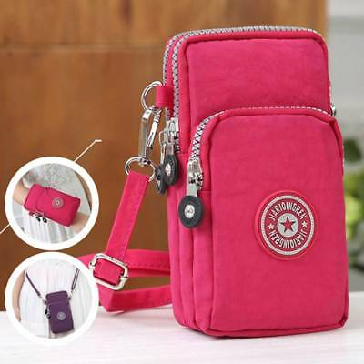 Multi-pocket Women Men Cross-body Shoulder Bag Phone Pouch Sports Purse Wallet