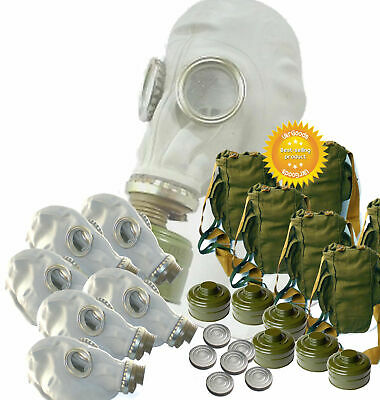 5 sets of Size - 2. Soviet Russian Military Gas mask GP-5. Gray rubber. Full set